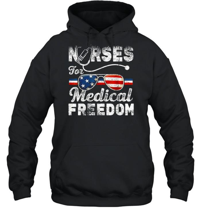 Nurses For Medical Freedom – Stop The Mandate Tee  Unisex Hoodie