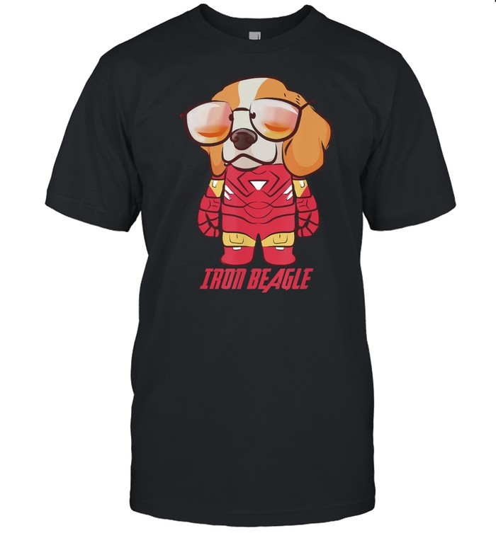 Colorful Iron Beagle Cute Puppy Beagle Dog Lovers Owners shirt Classic Men's T-shirt