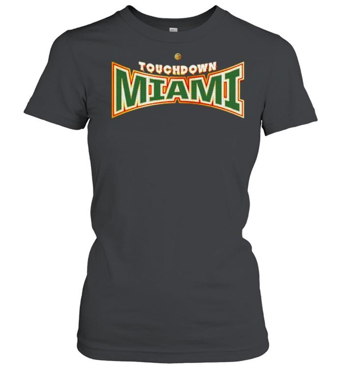 miami Hurricanes Dyme Lyfe Touchdown Ring Creator shirt Classic Women's T-shirt