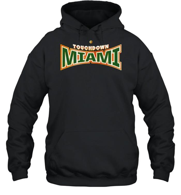miami Hurricanes Dyme Lyfe Touchdown Ring Creator shirt Unisex Hoodie