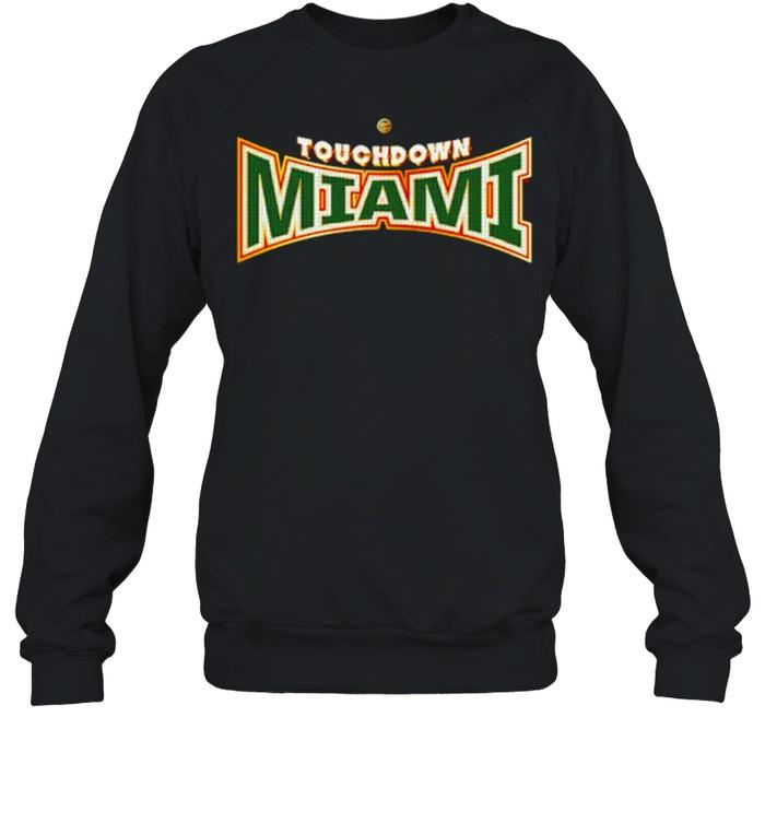 miami Hurricanes Dyme Lyfe Touchdown Ring Creator shirt Unisex Sweatshirt