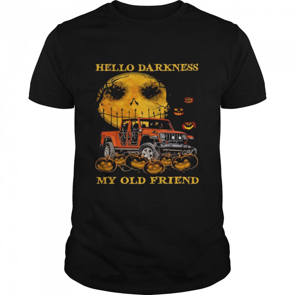 hello darkness my old friends halloween shirt Classic Men's T-shirt