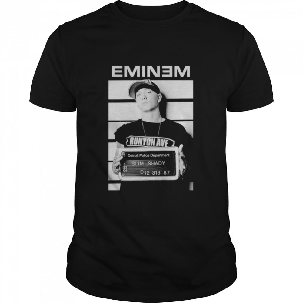 Eminem mugshot detroit police department shirt Classic Men's T-shirt