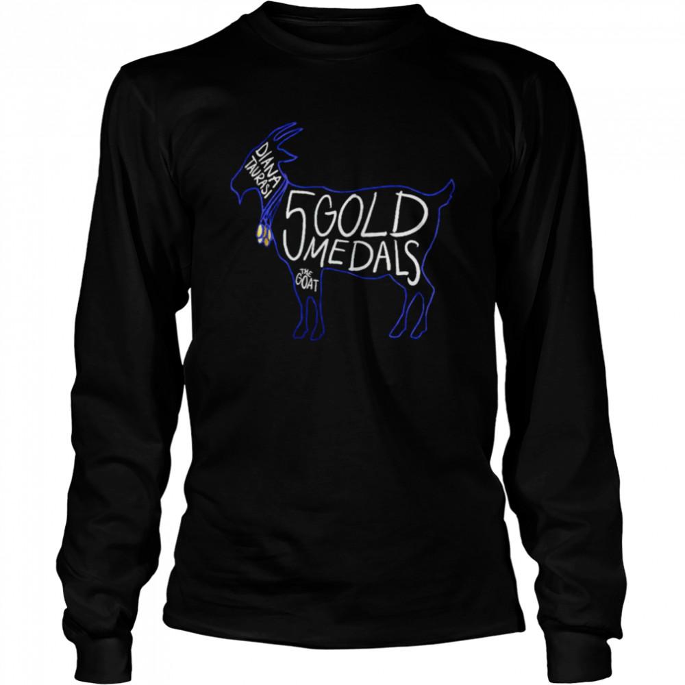 Diana Taurasi 5 gold medals the goat shirt Long Sleeved T-shirt