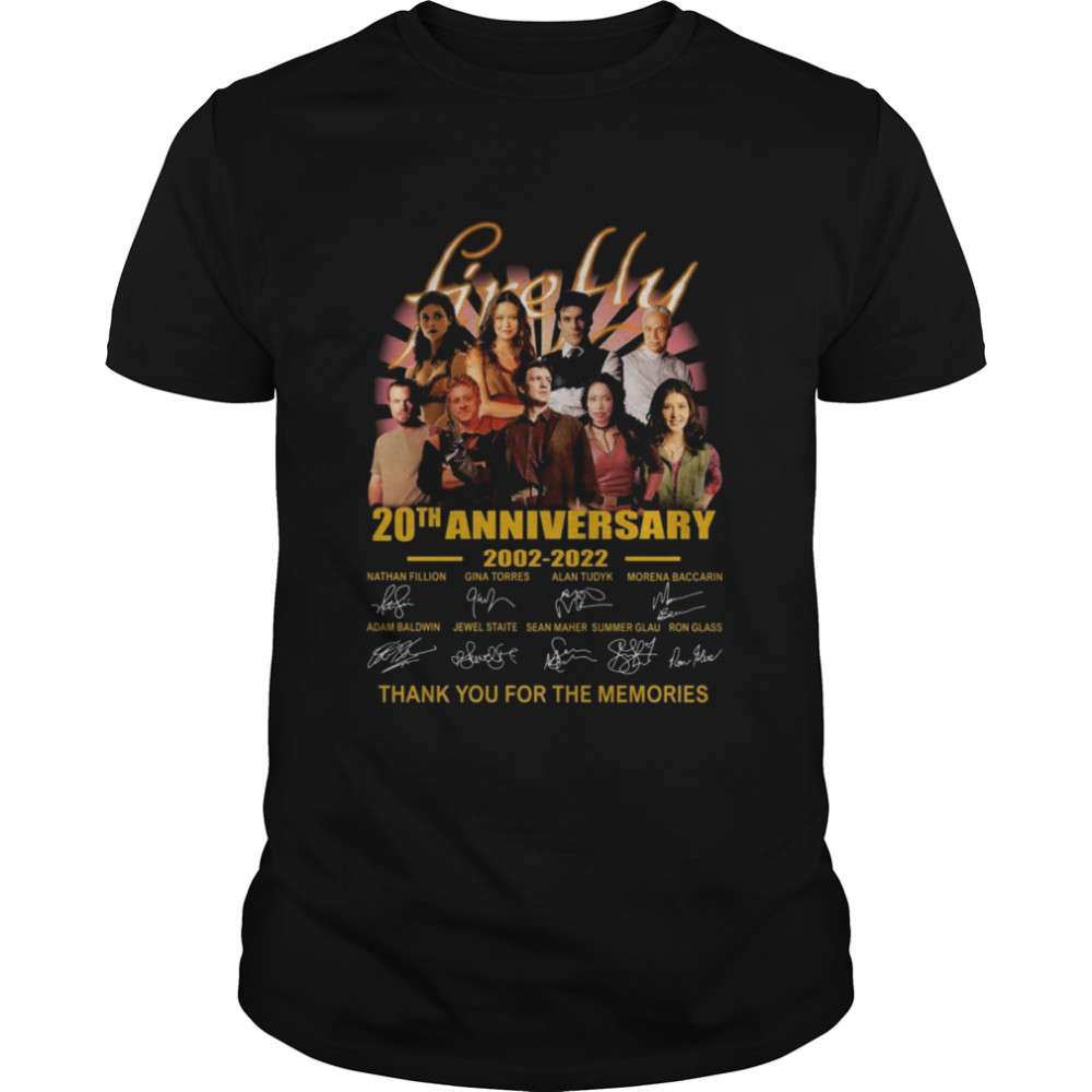 Firefly TV Series 20th anniversary 2002 2021 thank you for the memories signatures shirt Classic Men's T-shirt
