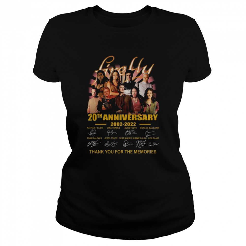 Firefly TV Series 20th anniversary 2002 2021 thank you for the memories signatures shirt Classic Women's T-shirt