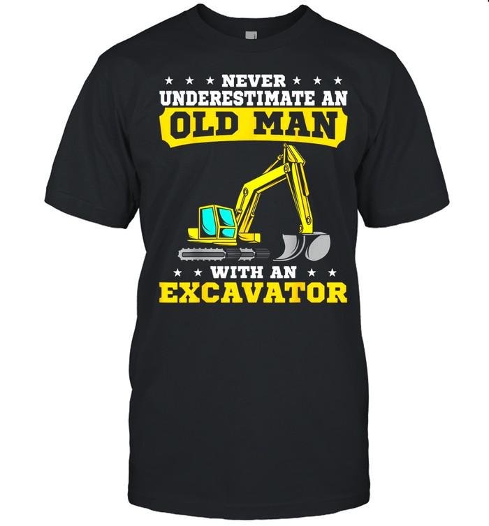 Heavy Equipment Operator Excavator Grandpa Grandfather shirt Classic Men's T-shirt