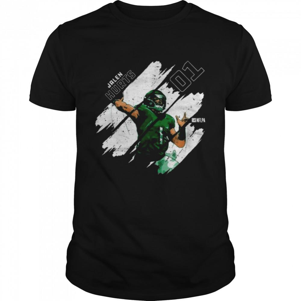 Philadelphia Eagles Jalen Hurts Stripes T- Classic Men's T-shirt