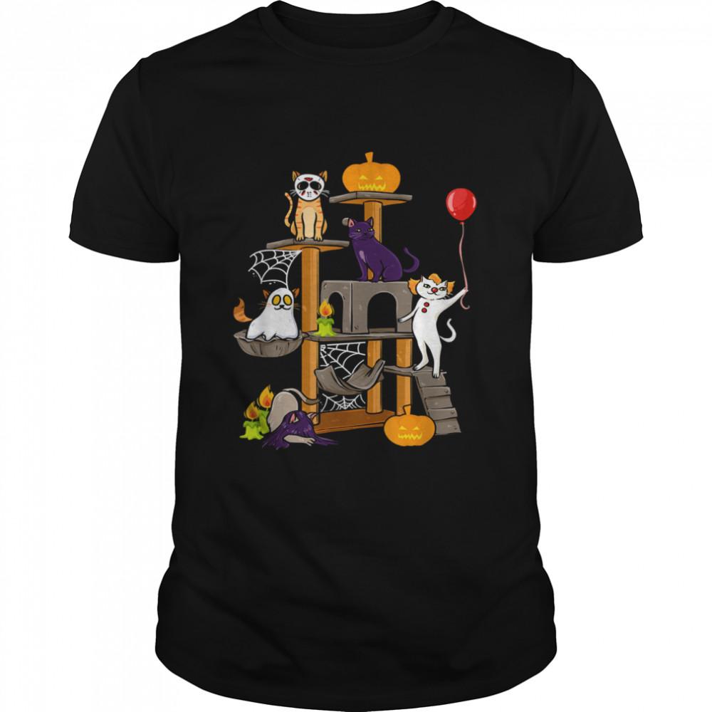 Cat Horror Movies Halloween for Cat Kitty shirt Classic Men's T-shirt