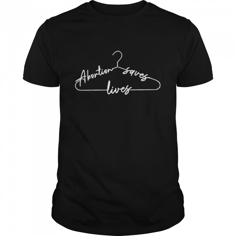 Coat Hanger abortion saves lives shirt Classic Men's T-shirt