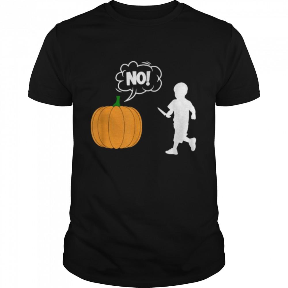 Kid Pumpkin Carving Comics Halloween T- Classic Men's T-shirt