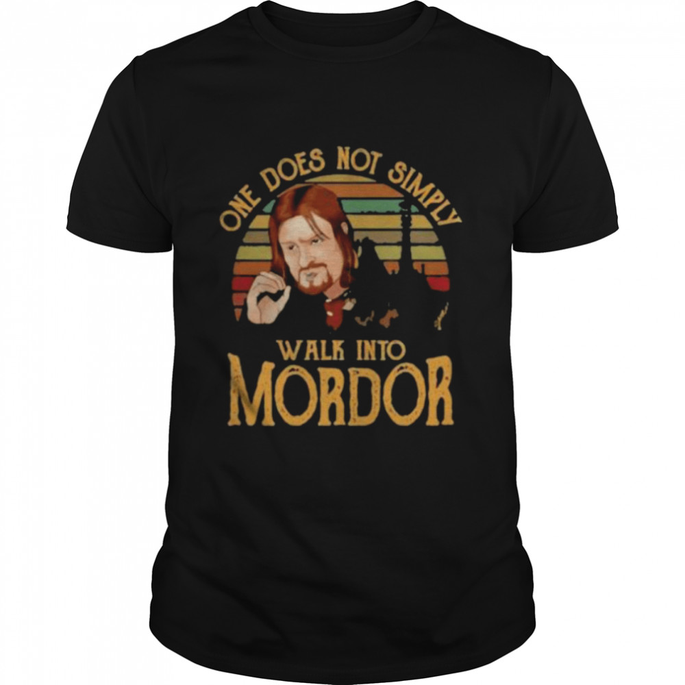 One does not simply walk into Mordor vintage shirt Classic Men's T-shirt