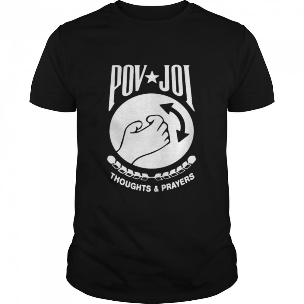 POV JOI Fallen Hero thoughts and prayers shirt Classic Men's T-shirt
