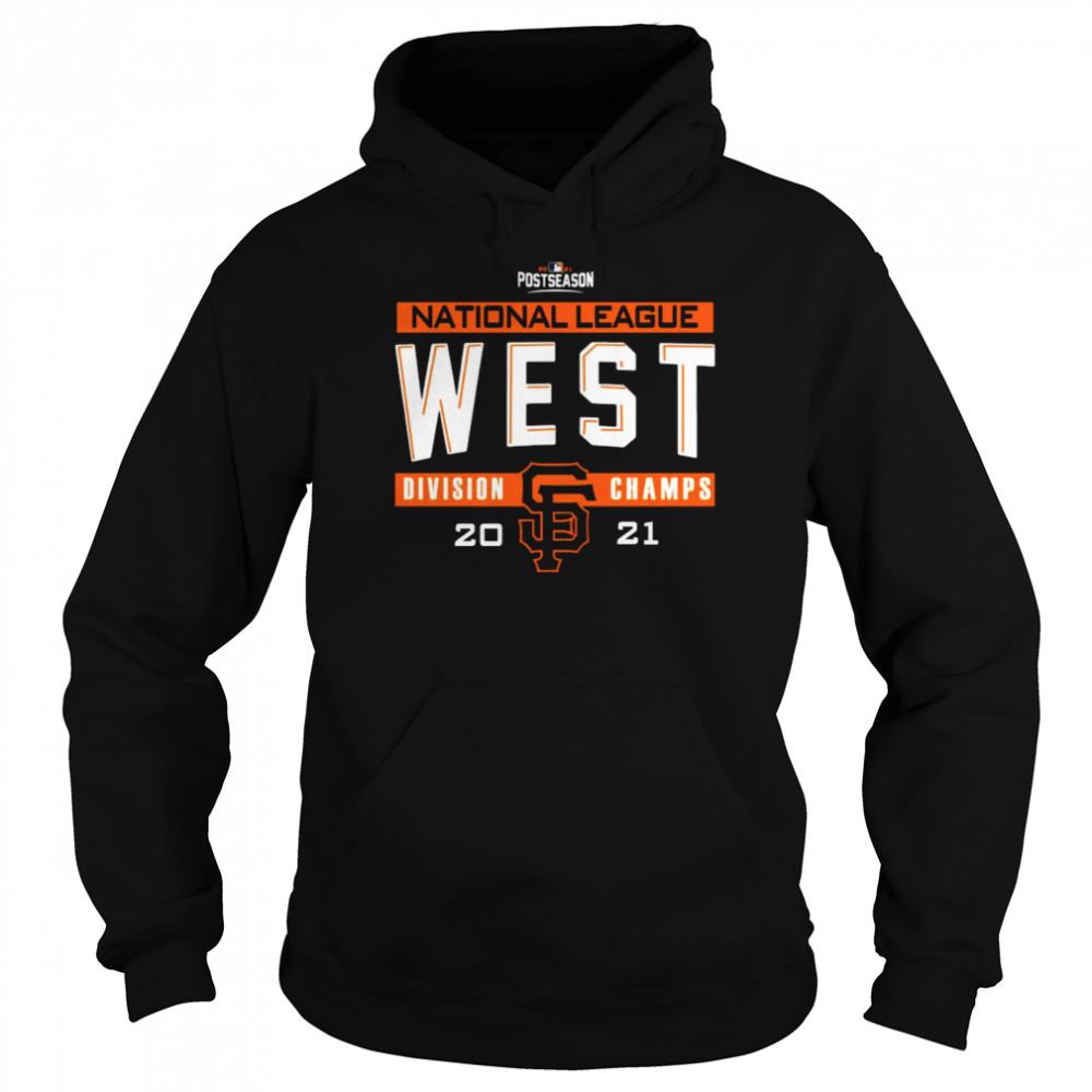 San Francisco Giants 2021 NL West Division Champions Locker Room shirt Unisex Hoodie