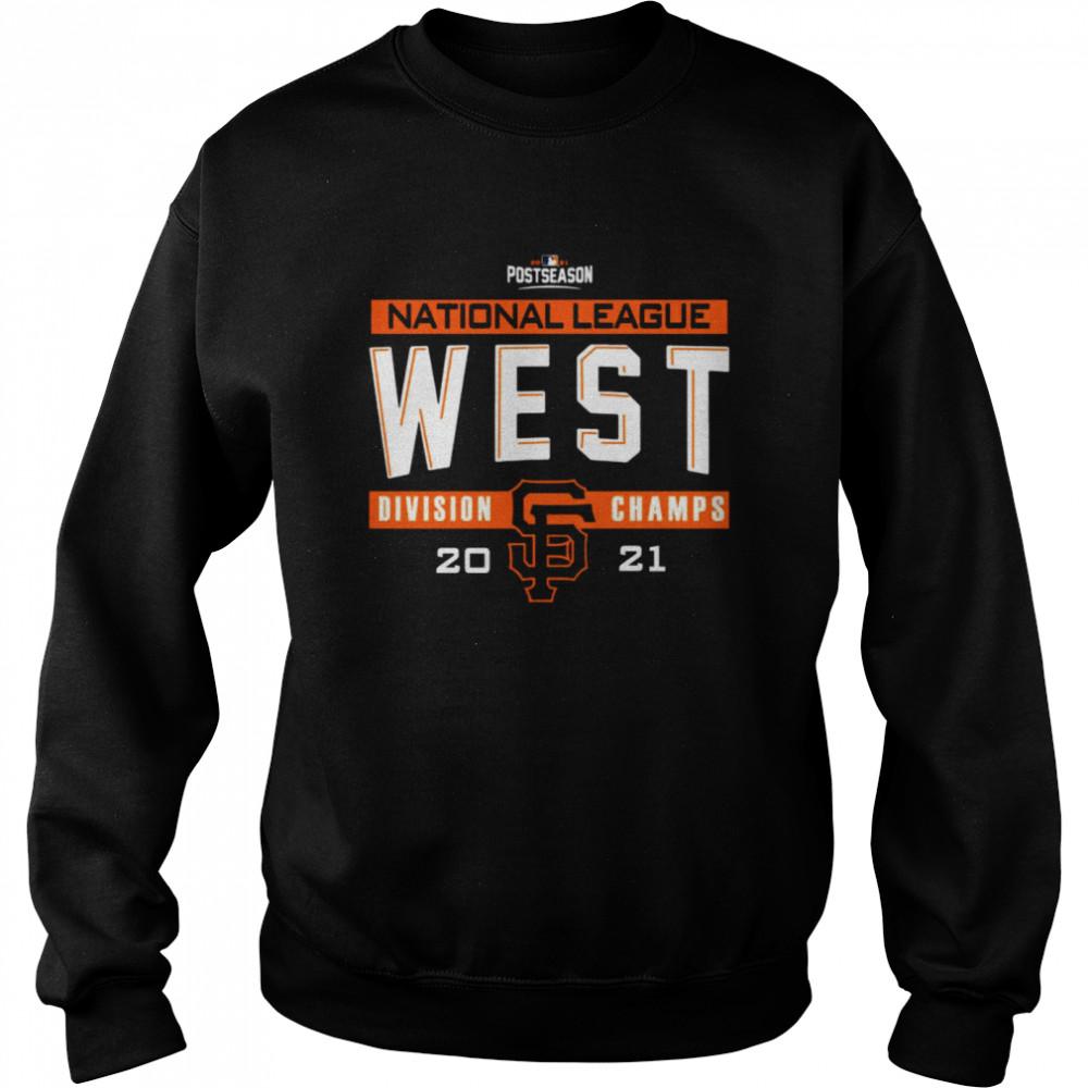 San Francisco Giants 2021 NL West Division Champions Locker Room shirt Unisex Sweatshirt