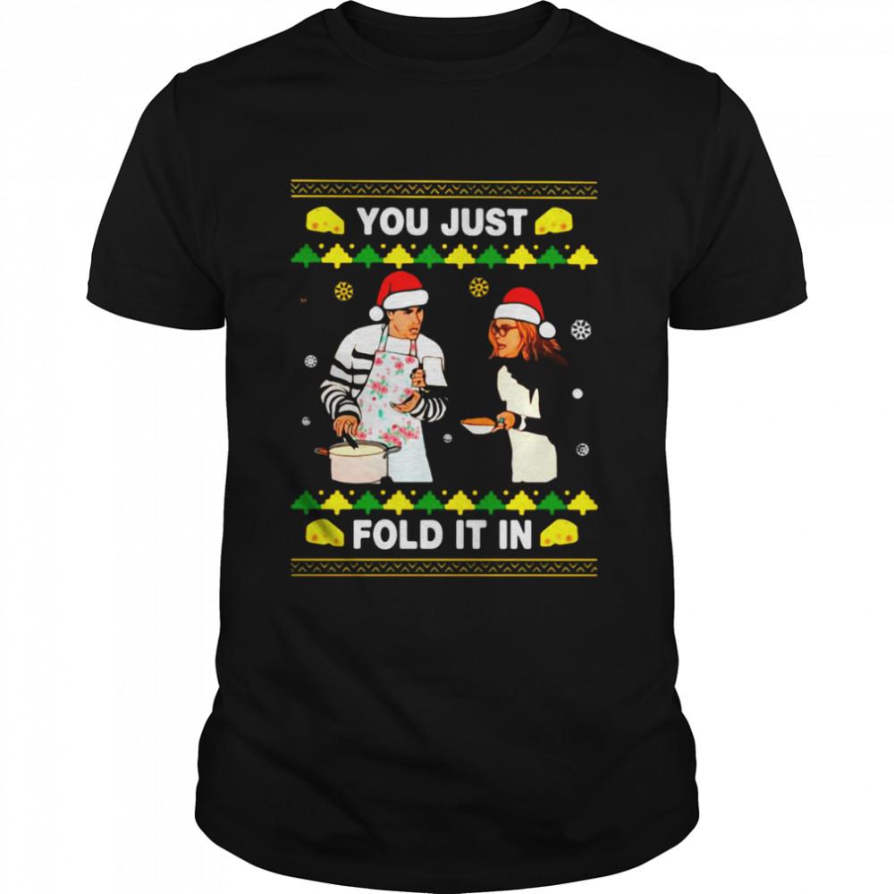 Schitt's Creek You Just Fold It In Christmas Sweater Crewneck  Classic Men's T-shirt