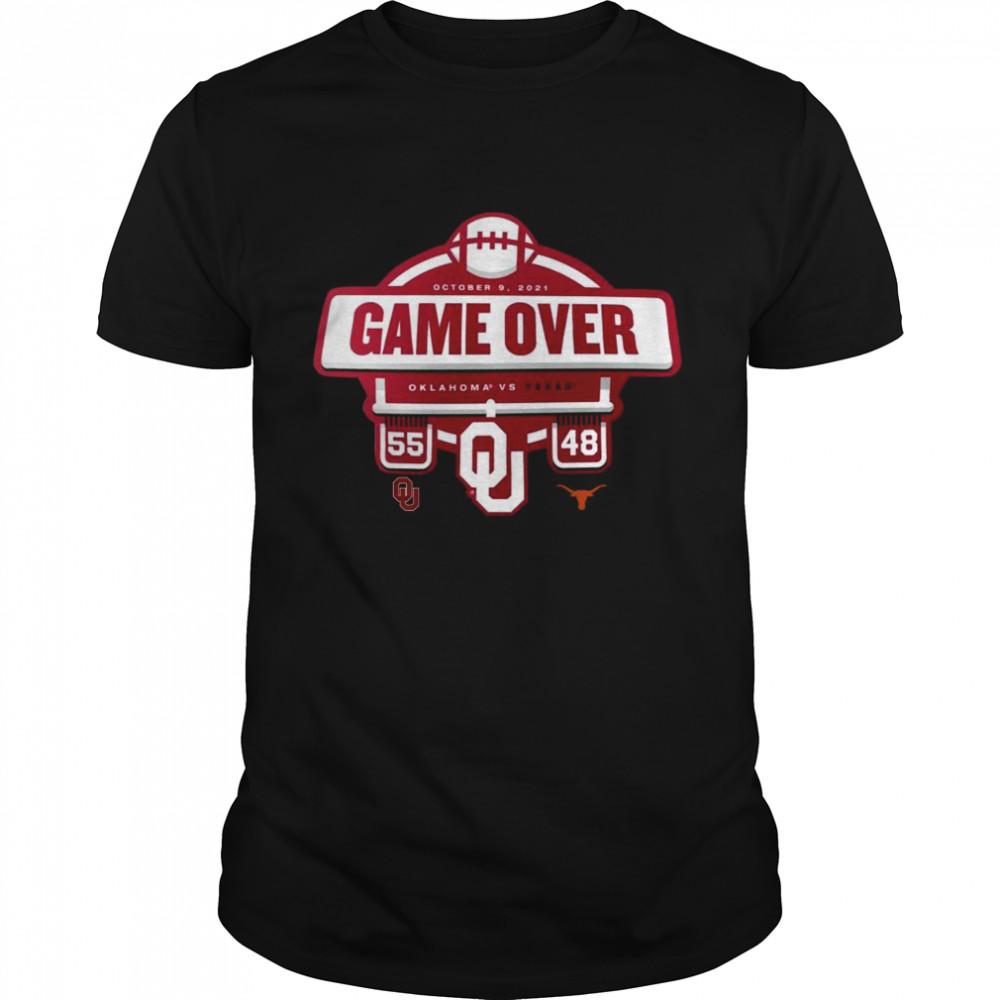 Oklahoma Sooners vs Texas Longhorns 55 48 2021 Football Score T- Classic Men's T-shirt