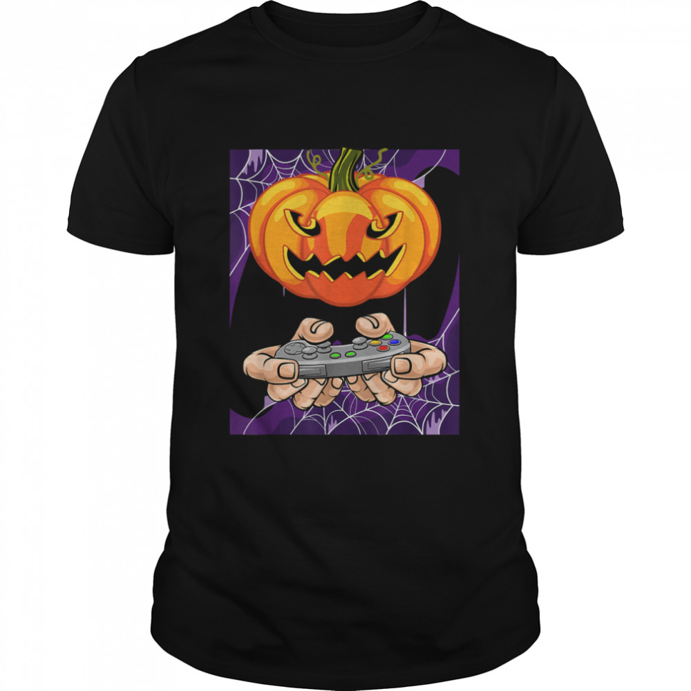 H Is For Video Games halloween Day  Classic Men's T-shirt