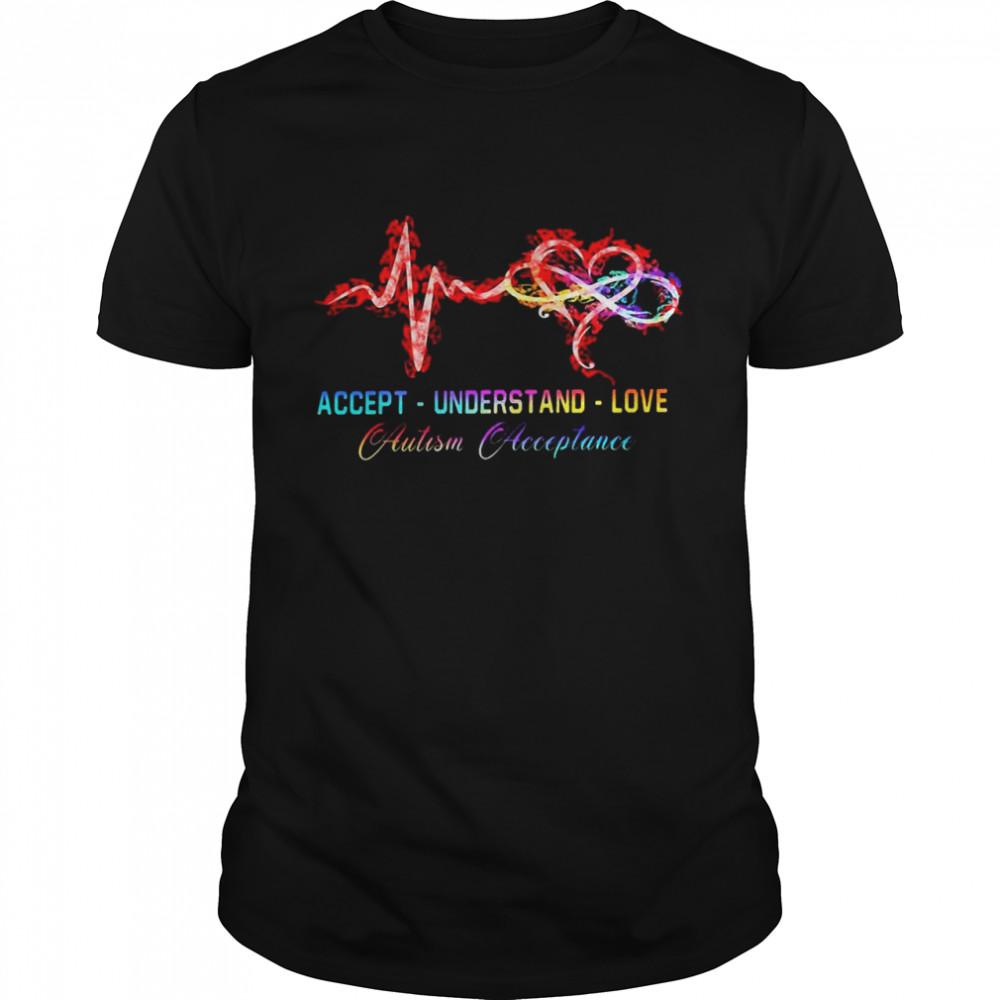Accept Understand Love Autism Acceptance  Classic Men's T-shirt