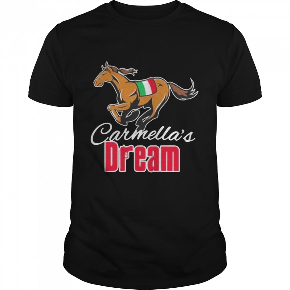 Carmella's Dream Pocket Big Cat's Horse Racing  Classic Men's T-shirt