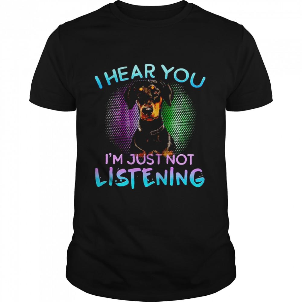 Doberman I Hear You I'm Just Not Listening  Classic Men's T-shirt