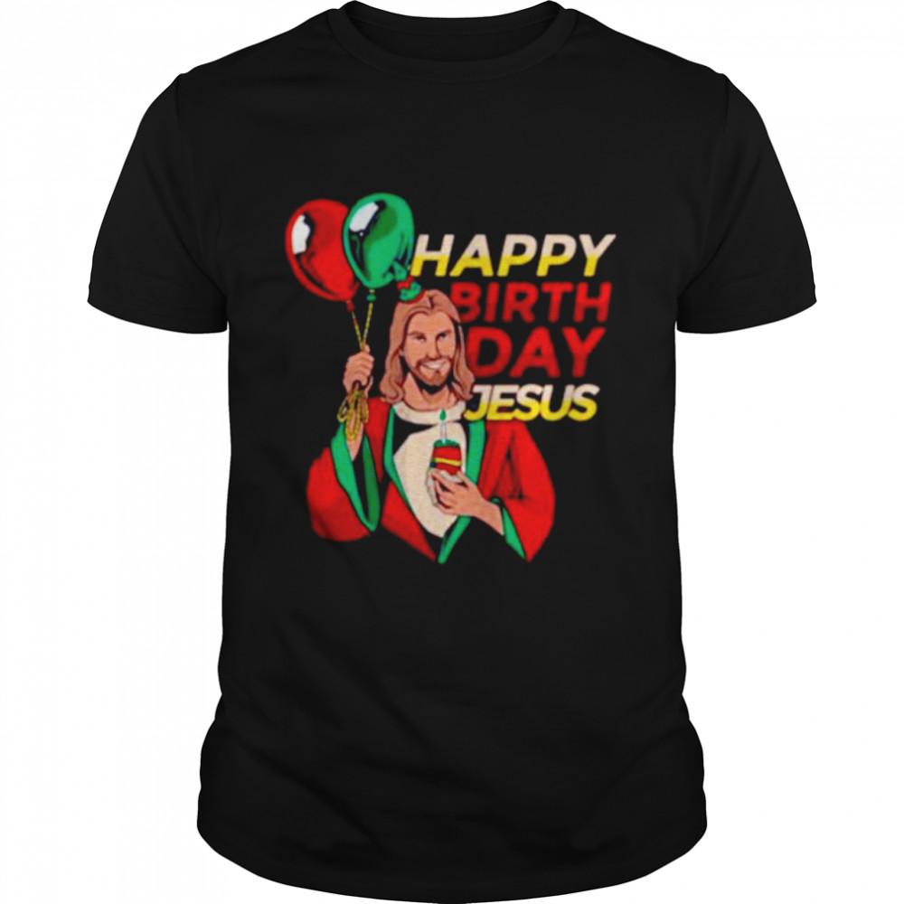 Happy Birthday Jesus Christmas shirt Classic Men's T-shirt
